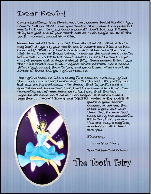 Official Tooth Fairy Mail Personalized Tooth Fairy