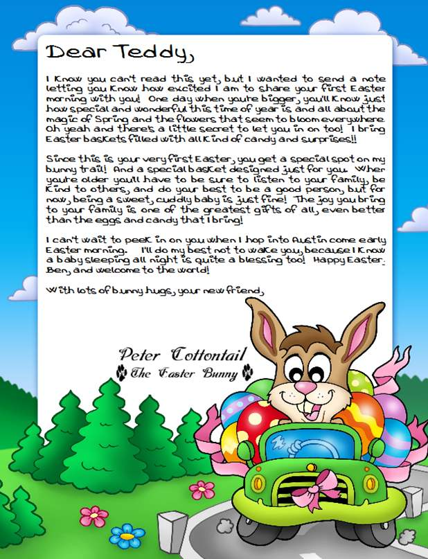 ... Easter Bunny Letters with our custom Easter Bunny Letter Designer