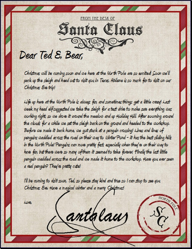 official north pole mail personalized letters from santa With personal letter from santa claus